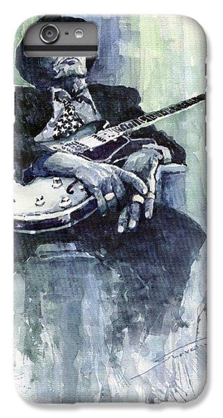 Jazz iPhone 6 Plus Case - Jazz Bluesman John Lee Hooker 04 by Yuriy Shevchuk
