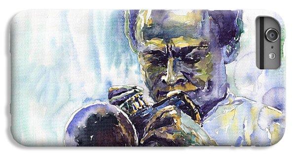 Jazz iPhone 6 Plus Case - Jazz Miles Davis 10 by Yuriy Shevchuk