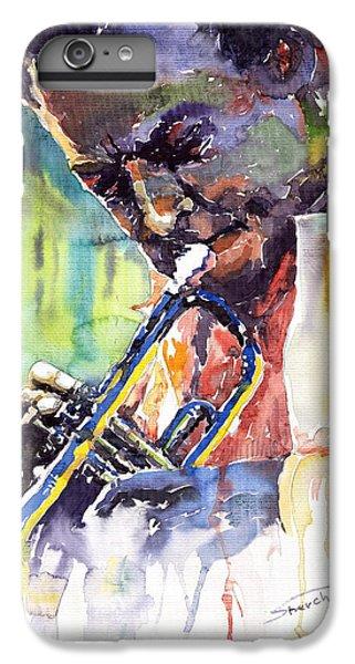 Jazz iPhone 6 Plus Case - Jazz Miles Davis 9 Blue by Yuriy Shevchuk