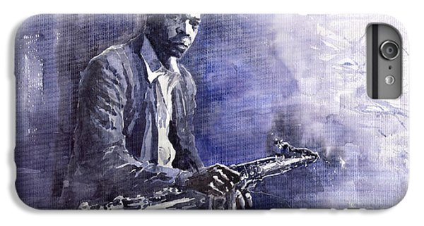 Figurative iPhone 6 Plus Case - Jazz Saxophonist John Coltrane 03 by Yuriy Shevchuk