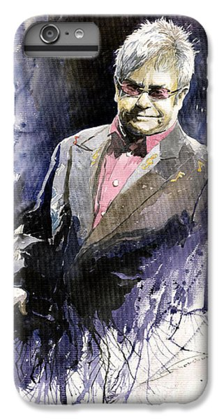 Elton John iPhone 6 Plus Case - Jazz Sir Elton John by Yuriy Shevchuk
