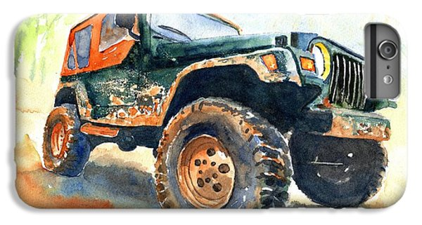 Car iPhone 6 Plus Case - Jeep Wrangler Watercolor by Carlin Blahnik CarlinArtWatercolor