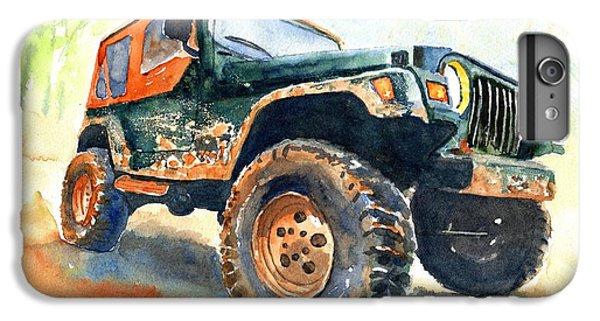 Car iPhone 6 Plus Case - Jeep Wrangler Watercolor by Carlin Blahnik CarlinArtWatercolor
