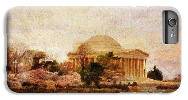 Jefferson Memorial iPhone 6 Plus Case - Jefferson Memorial Just Past Dawn by Lois Bryan