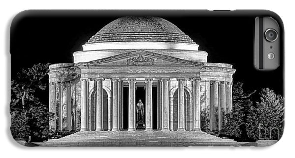 Jefferson Memorial iPhone 6 Plus Case - Jefferson Memorial Lonely Night by Olivier Le Queinec
