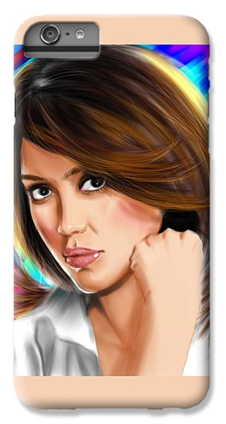 Jessica Alba IPhone 6 Plus Case by Isaac Martinez