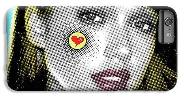 Jessica Alba Pop Art, Portrait, Contemporary Art On Canvas, Famous Celebrities IPhone 6 Plus Case