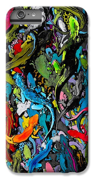 Salamanders iPhone 6 Plus Case - Jewels Of The Demon City Swarm by Zak Smith