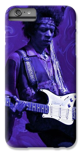 Rock And Roll iPhone 6 Plus Case - Jimi Hendrix Purple Haze by David Dehner