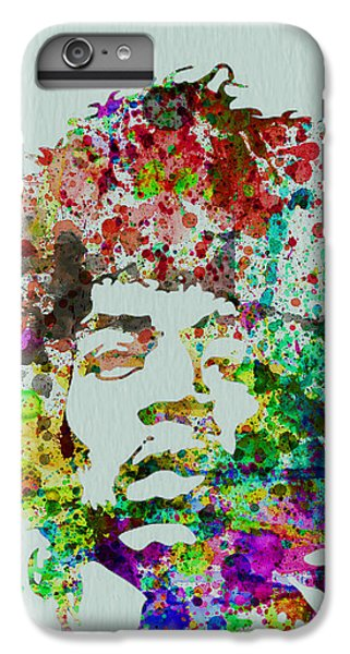 Rock And Roll iPhone 6 Plus Case - Jimmy Hendrix Watercolor by Naxart Studio