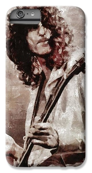 Rock Music Jimmy Page iPhone 6 Plus Case - Jimmy Page By Mary Bassett by Mary Bassett