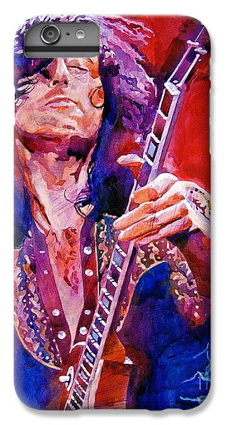 Musician iPhone 6 Plus Case - Jimmy Page by David Lloyd Glover