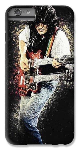 Rock Music Jimmy Page iPhone 6 Plus Case - Jimmy Page II by Zapista Zapista