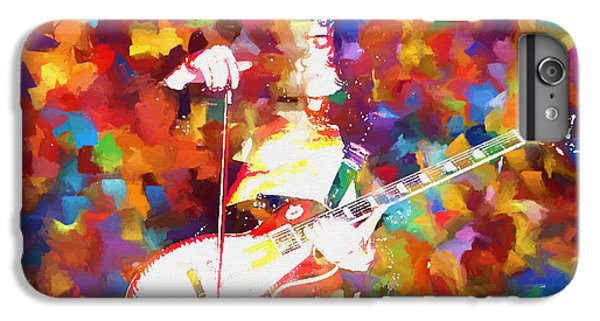 Rock Music Jimmy Page iPhone 6 Plus Case - Jimmy Page Jamming by Dan Sproul