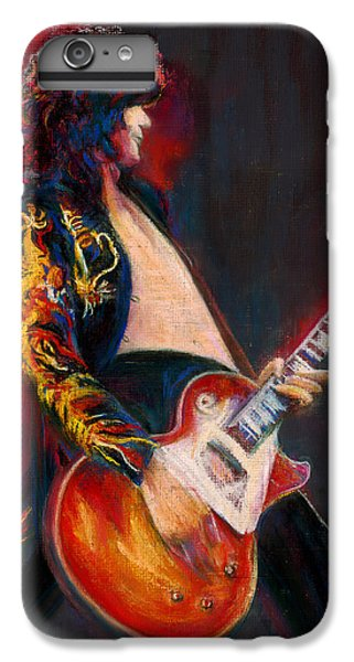 Rock Music Jimmy Page iPhone 6 Plus Case - Jimmy Page by Laurie VanBalen