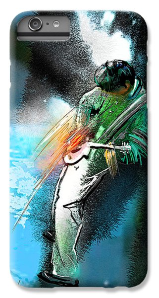 Rock Music Jimmy Page iPhone 6 Plus Case - Jimmy Page Lost In Music by Miki De Goodaboom