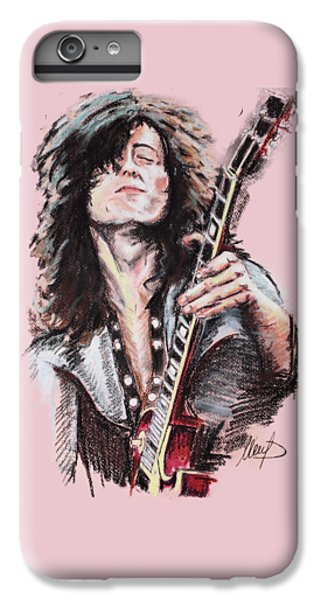 Jimmy Page IPhone 6 Plus Case by Melanie D