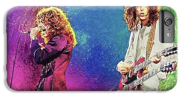 Rock Music Jimmy Page iPhone 6 Plus Case - Jimmy Page - Robert Plant by Zapista Zapista