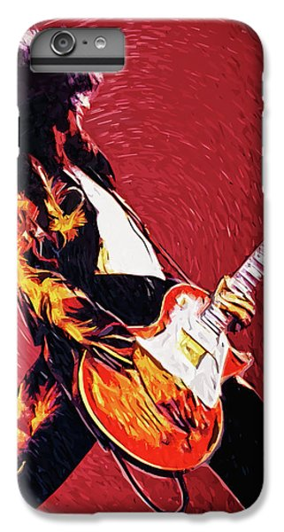 Folk Art iPhone 6 Plus Case - Jimmy Page  by Zapista