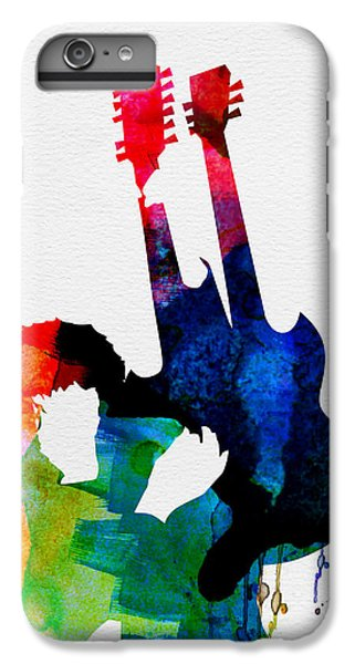 Rock Music Jimmy Page iPhone 6 Plus Case - Jimmy Watercolor by Naxart Studio
