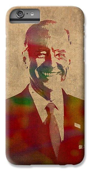 Joe Biden Watercolor Portrait IPhone 6 Plus Case by Design Turnpike