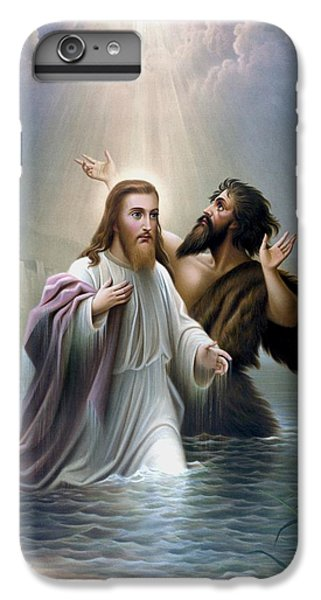 Dove iPhone 6 Plus Case - John The Baptist Baptizes Jesus Christ by War Is Hell Store