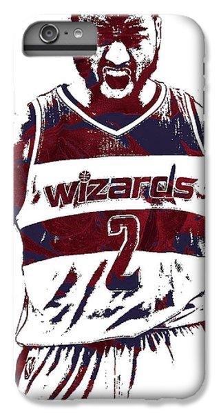 Wizard iPhone 6 Plus Case - John Wall Washington Wizards Pixel Art 5 by Joe Hamilton