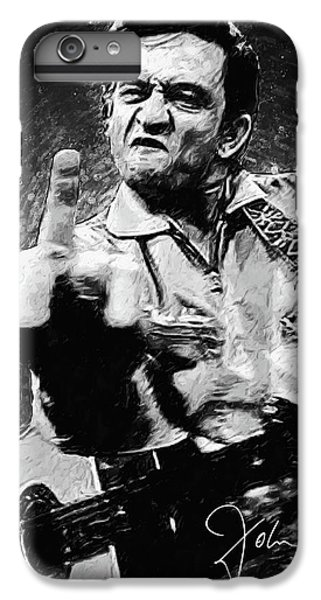 Rock And Roll iPhone 6 Plus Case - Johnny Cash by Zapista