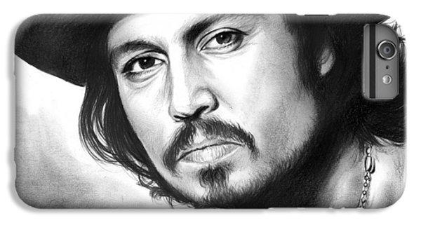 Johnny Depp IPhone 6 Plus Case by Greg Joens