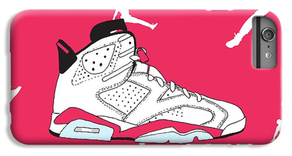 5f11a577b059 Air Jordan 1 iPhone 6 Plus Case - Jordan 6 White Infrared by Letmedraw  Yourpicture