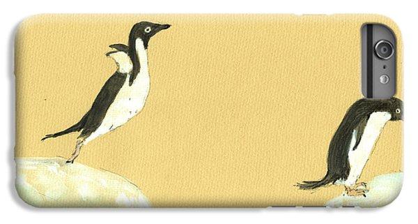 Penguin iPhone 6 Plus Case - Jumping Penguins by Juan  Bosco