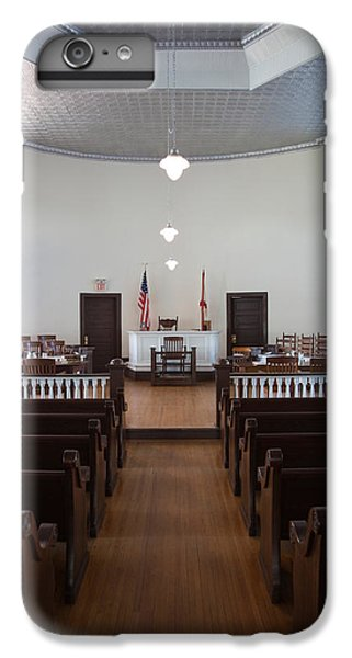 Mockingbird iPhone 6 Plus Case - Jury Box In A Courthouse, Old by Panoramic Images