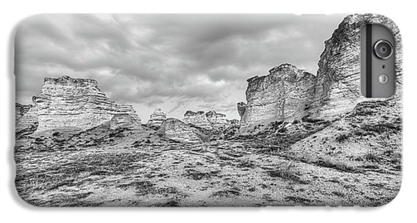 IPhone 6 Plus Case featuring the photograph Kansas Badlands Black And White by JC Findley