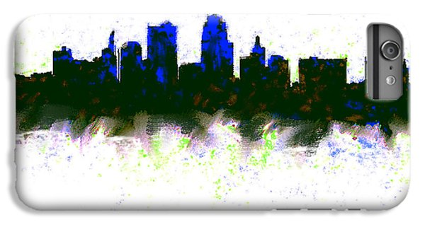 Kansas City Skyline Blue  IPhone 6 Plus Case by Enki Art