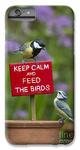 Titmouse iPhone 6 Plus Case - Keep Calm And Feed The Birds by Tim Gainey