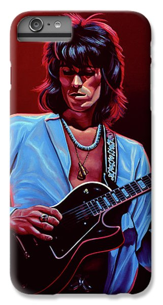 Musicians iPhone 6 Plus Case - Keith Richards The Riffmaster by Paul Meijering