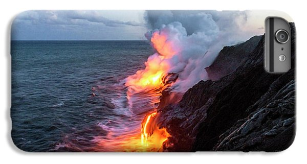 Pacific Ocean iPhone 6 Plus Case - Kilauea Volcano Lava Flow Sea Entry 3- The Big Island Hawaii by Brian Harig