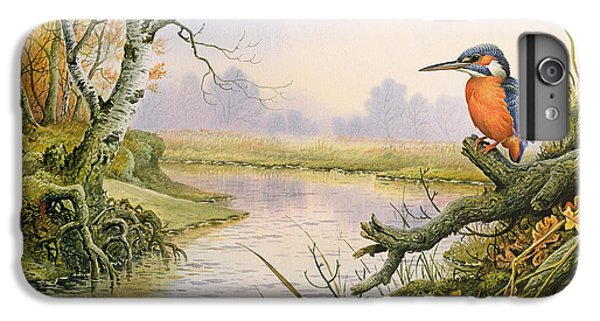 Kingfisher iPhone 6 Plus Case - Kingfisher  Autumn River Scene by Carl Donner