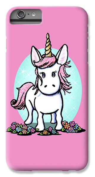 Kiniart Unicorn Sparkle IPhone 6 Plus Case by Kim Niles