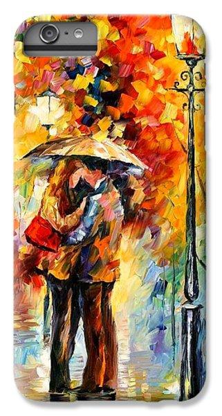 Afremov iPhone 6 Plus Case - Kiss Under The Rain by Leonid Afremov