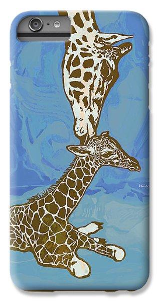 Kissing - Giraffe Stylised Pop Art Poster IPhone 6 Plus Case