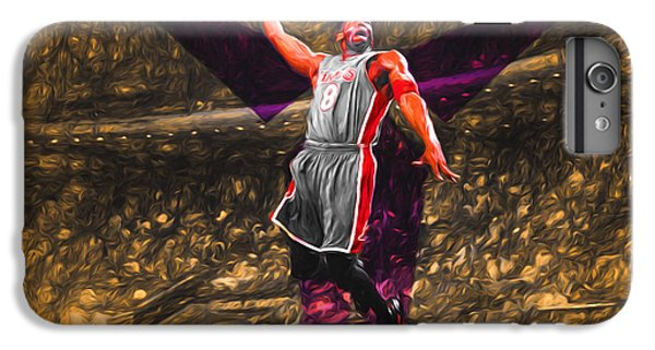 Kobe Bryant Black Mamba Digital Painting IPhone 6 Plus Case by David Haskett