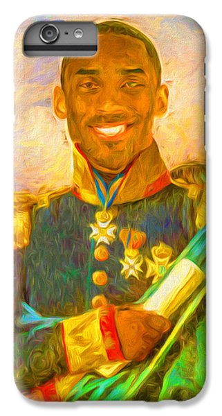 Kobe Bryant Floor General Digital Painting La Lakers IPhone 6 Plus Case by David Haskett