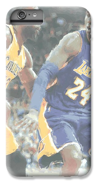 Kobe Bryant Lebron James 2 IPhone 6 Plus Case by Joe Hamilton