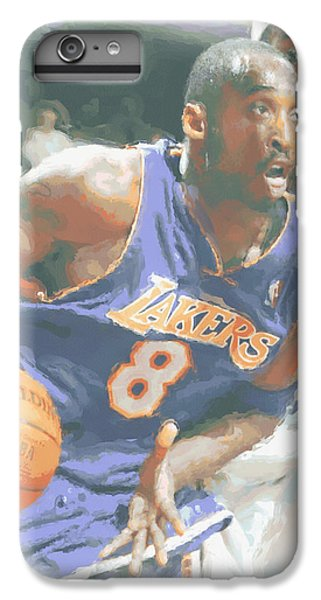Kobe Bryant Lebron James IPhone 6 Plus Case by Joe Hamilton