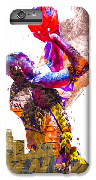 Kobe Bryant Los Angeles Lakers Digital Painting Snake 1 IPhone 6 Plus Case by David Haskett