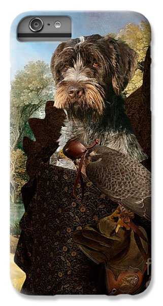 Korthals Pointing Griffon Art Canvas Print - The Hunters And Lady Falconer IPhone 6 Plus Case