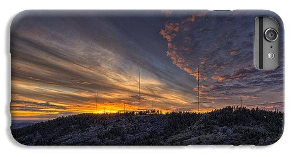 Mountain Sunset iPhone 6 Plus Case - Krell Hill Sunset by Mark Kiver
