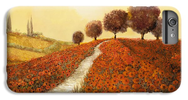 Landscape iPhone 6 Plus Case - La Collina Dei Papaveri by Guido Borelli