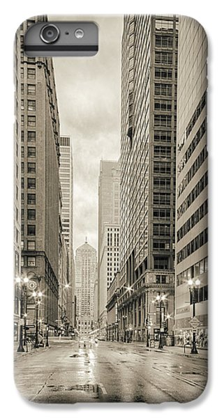 Lasalle Street Canyon With Chicago Board Of Trade Building At The South Side - Chicago Illinois IPhone 6 Plus Case by Silvio Ligutti
